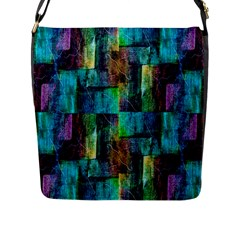 Abstract Square Wall Flap Messenger Bag (l)  by Costasonlineshop
