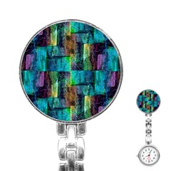 Abstract Square Wall Stainless Steel Nurses Watches by Costasonlineshop