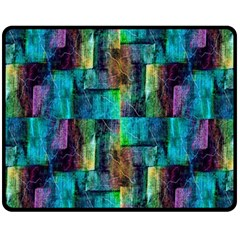 Abstract Square Wall Double Sided Fleece Blanket (medium)  by Costasonlineshop