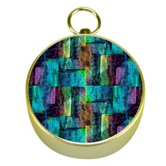 Abstract Square Wall Gold Compasses by Costasonlineshop