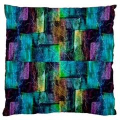 Abstract Square Wall Large Flano Cushion Cases (one Side)  by Costasonlineshop