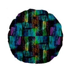 Abstract Square Wall Standard 15  Premium Flano Round Cushions by Costasonlineshop