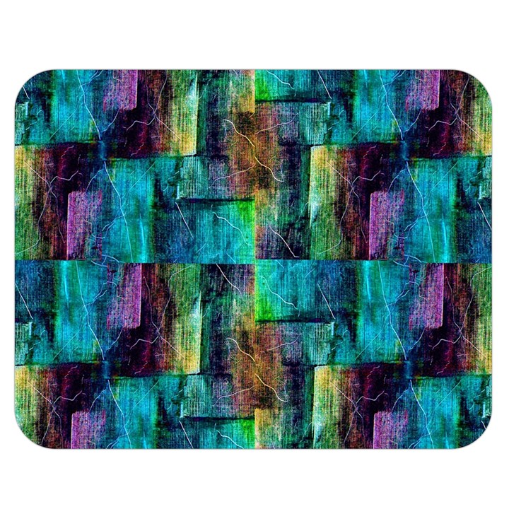 Abstract Square Wall Double Sided Flano Blanket (Medium)
