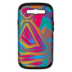 Distorted Shapessamsung Galaxy S Iii Hardshell Case (pc+silicone) by LalyLauraFLM