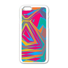 Distorted Shapes			apple Iphone 6/6s White Enamel Case by LalyLauraFLM
