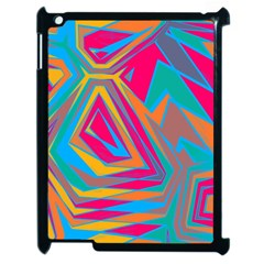 Distorted Shapes			apple Ipad 2 Case (black) by LalyLauraFLM