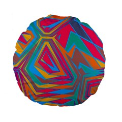 Distorted Shapes 	standard 15  Premium Flano Round Cushion by LalyLauraFLM