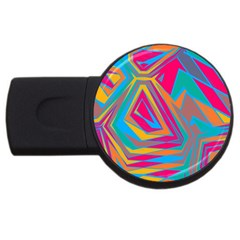 Distorted Shapes			usb Flash Drive Round (2 Gb) by LalyLauraFLM