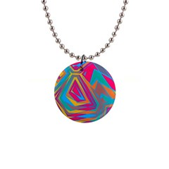 Distorted Shapes1  Button Necklace by LalyLauraFLM