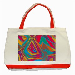 Distorted Shapesclassic Tote Bag (red) by LalyLauraFLM
