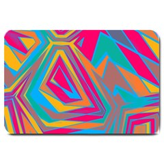 Distorted Shapes			large Doormat by LalyLauraFLM