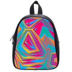 Distorted Shapesschool Bag (small) by LalyLauraFLM