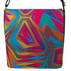 Distorted Shapes			flap Closure Messenger Bag (s) by LalyLauraFLM
