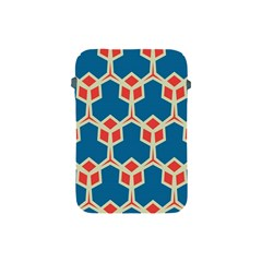 Orange Shapes On A Blue Background			apple Ipad Mini Protective Soft Case by LalyLauraFLM