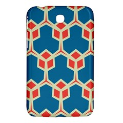 Orange Shapes On A Blue Background			samsung Galaxy Tab 3 (7 ) P3200 Hardshell Case by LalyLauraFLM