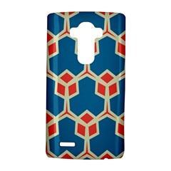 Orange Shapes On A Blue Background			lg G4 Hardshell Case by LalyLauraFLM