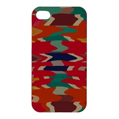 Retro colors distorted shapes			Apple iPhone 4/4S Premium Hardshell Case