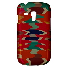 Retro Colors Distorted Shapes			samsung Galaxy S3 Mini I8190 Hardshell Case by LalyLauraFLM