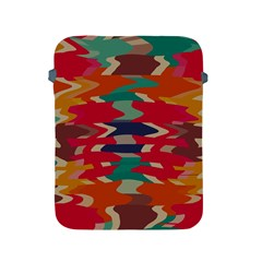 Retro Colors Distorted Shapesapple Ipad 2/3/4 Protective Soft Case by LalyLauraFLM