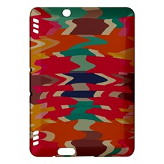 Retro Colors Distorted Shapeskindle Fire Hdx Hardshell Case by LalyLauraFLM