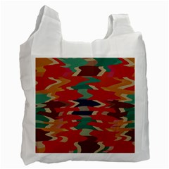 Retro Colors Distorted Shapesrecycle Bag (one Side) by LalyLauraFLM