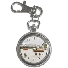 Boats At Santa Lucia River In Montevideo Uruguay Key Chain Watches by dflcprints