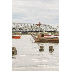 Boats At Santa Lucia River In Montevideo Uruguay 5 5  X 8 5  Notebooks by dflcprints