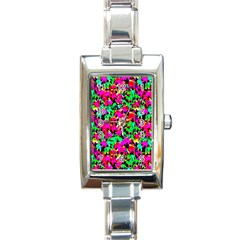 Colorful Leaves Rectangle Italian Charm Watches by Costasonlineshop