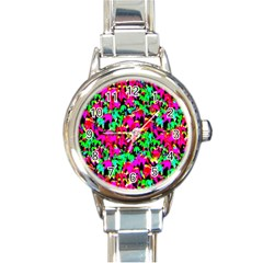Colorful Leaves Round Italian Charm Watches by Costasonlineshop