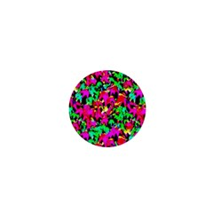 Colorful Leaves 1  Mini Buttons by Costasonlineshop