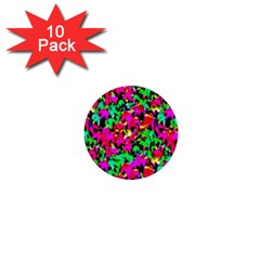 Colorful Leaves 1  Mini Buttons (10 Pack)  by Costasonlineshop