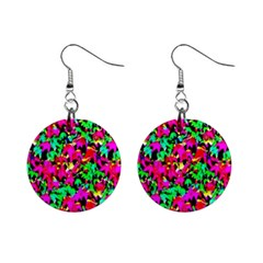 Colorful Leaves Mini Button Earrings by Costasonlineshop