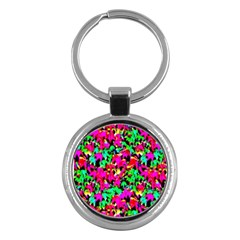 Colorful Leaves Key Chains (round)  by Costasonlineshop