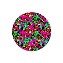 Colorful Leaves Rubber Round Coaster (4 Pack)  by Costasonlineshop