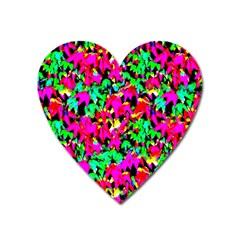 Colorful Leaves Heart Magnet by Costasonlineshop