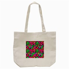 Colorful Leaves Tote Bag (cream)  by Costasonlineshop