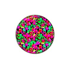 Colorful Leaves Hat Clip Ball Marker (4 Pack) by Costasonlineshop