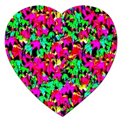 Colorful Leaves Jigsaw Puzzle (heart) by Costasonlineshop