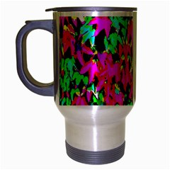 Colorful Leaves Travel Mug (silver Gray) by Costasonlineshop