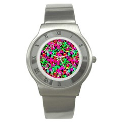 Colorful Leaves Stainless Steel Watches by Costasonlineshop
