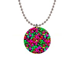 Colorful Leaves Button Necklaces by Costasonlineshop