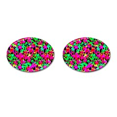Colorful Leaves Cufflinks (oval) by Costasonlineshop
