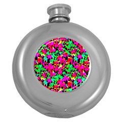Colorful Leaves Round Hip Flask (5 Oz)
