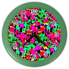 Colorful Leaves Color Wall Clocks