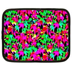 Colorful Leaves Netbook Case (large) by Costasonlineshop