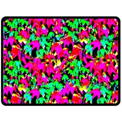 Colorful Leaves Fleece Blanket (large)  by Costasonlineshop
