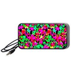 Colorful Leaves Portable Speaker (black)  by Costasonlineshop