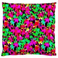Colorful Leaves Large Cushion Cases (one Side)  by Costasonlineshop