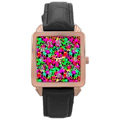 Colorful Leaves Rose Gold Watches by Costasonlineshop