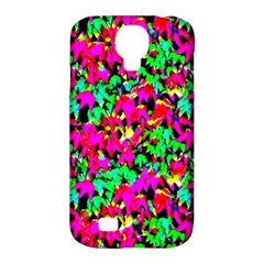 Colorful Leaves Samsung Galaxy S4 Classic Hardshell Case (pc+silicone) by Costasonlineshop